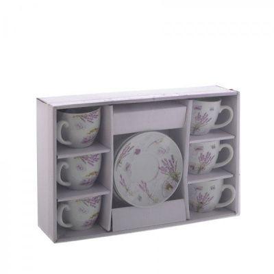 Чайный набор на 6 персон, 12 предметов (чашка с блюдцем 150 мл)