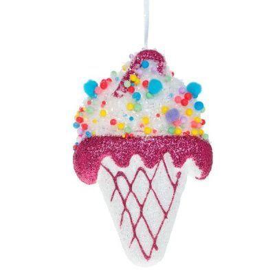 Новогоднее украшение Мороженое, 15 см