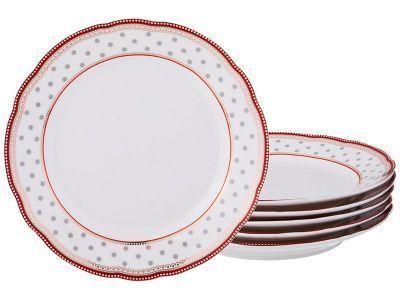 Набор десертных тарелок из 6-ти шт. диаметр 20 см