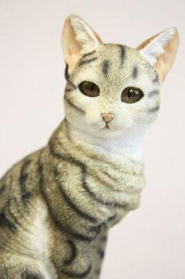 Статуэтка Кошка серая сидящая