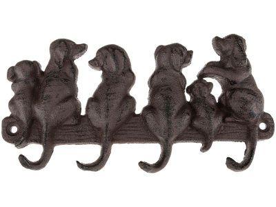 """Крючок настенный """"собаки"""" 11*11 см."""