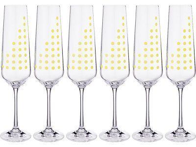 """Набор бокалов для шампанского из 6 шт. """"sandra"""" 200 мл. высота 25 см"""