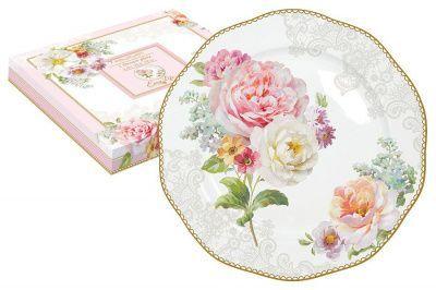 Тарелка десертная Цветочная романтика