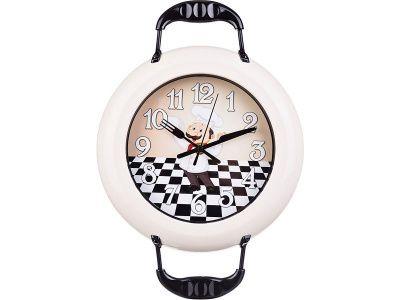 """Часы настенные кварцевые """"chef kitchen"""" 37*26 см диаметр циферблата 18 см"""