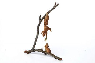 "Фигурка ""три белки на дереве"" высота 22 см."
