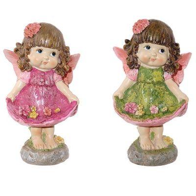 Фигурка декоративная Девочка, L8.3 W6.1 H14.1 см, 2в