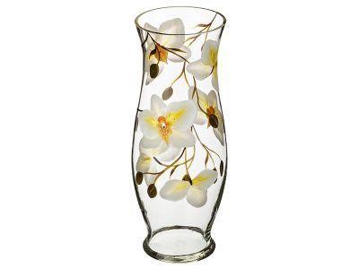 """Ваза """"орхидея салатовая"""" тюльпан диаметр 11 см. высота 30 см."""
