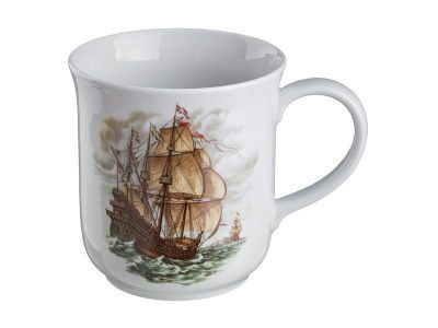 """Кружка """"корабль"""" 1500 мл. диаметр 14,5 см. высота 15,5 см."""