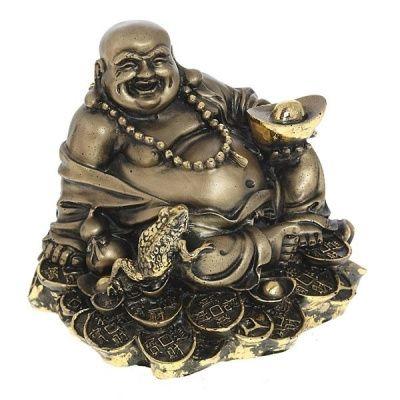 Фигурка декоративная Хотей (сусальное золото), L17W15H17 см