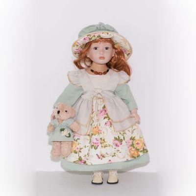 Фарфоровая кукла Скарлетт, 56 см