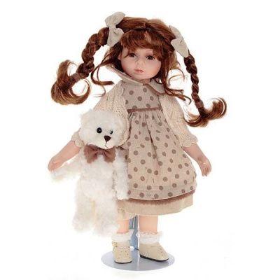 Кукла Ксюша с мишкой, H36 см