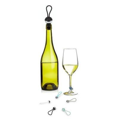 Набор из пробки для бутылки и маркеров для бокалов bauble