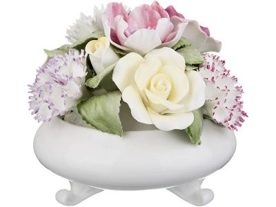 "Статуэтка ""ваза с цветами"" 11*11*9 см."