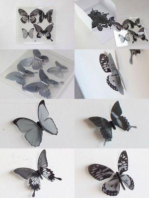 Декор для стен chrysalis 15 элементов черный-прозрачный