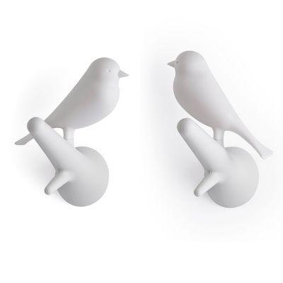 Вешалки настенные sparrow, 2 шт., белые