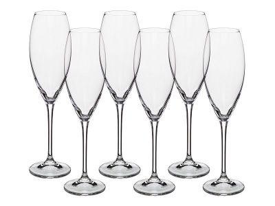"""Набор бокалов для шампанского из 6 шт. """"cecilia / carduelis"""" 290 мл. высота 26,5 см."""