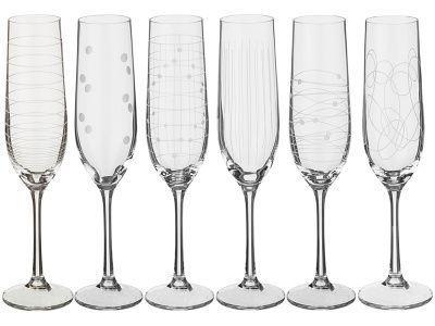 """Набор бокалов для шампанского """"elements""""190 мл."""