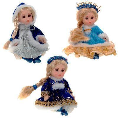 Кукла Снегурочка, 14 см, 3 в.