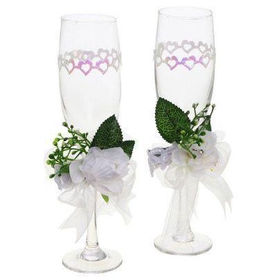 Набор из 2-x свадебных бокалов, L8 W16 H24 cм