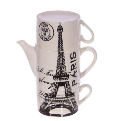 Чайный набор на 2 персоны, 3 предм ( чашка 180мл, чайник 400 мл)