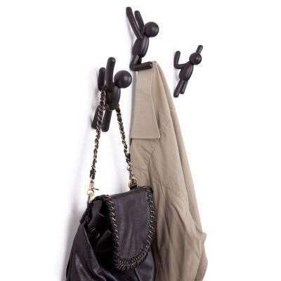 Вешалки-крючки buddy 3 шт. черные