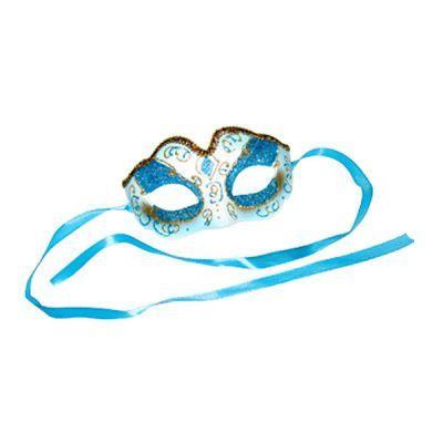 Карнавальная маска Венеция голубая