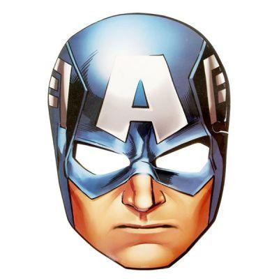 Маска бумажная Мстители Капитан Америка 16х23см